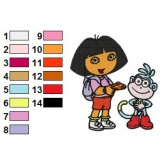 Dora the Explorer 02 embroidery design