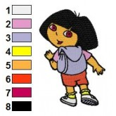 Dora the Explorer 06 embroidery design
