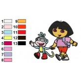 Dora the Explorer 12 embroidery design