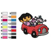 Dora the Explorer 18 embroidery design