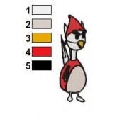 Emery Angry Birds Embroidery Design