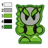 Fella as Green Lantern Embroidery Design