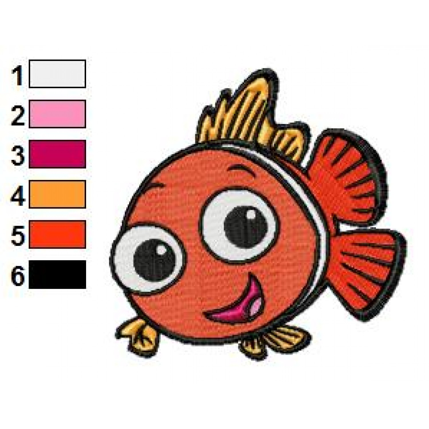 Free Finding Nemo Embroidery Designs