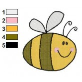 Funny Bee Embroidery Design