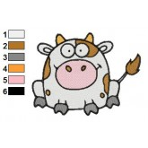 Funny Cow Embroidery Design 02