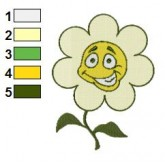 Funny Yellow Flower Embroidery Design
