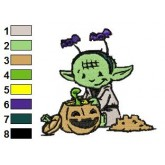 Funny Yoda Star Wars Embroidery Design