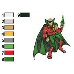 Green Lantern Alan Scott Embroidery Design
