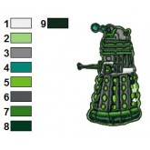 Green Lantern Dalek Embroidery Design 02