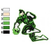 Green Lantern Hal Jordan Embroidery Design