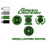 Green Lantern Shapes Embroidery Design