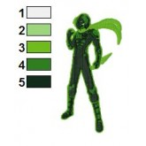 Green Lantern Shinobi Concept Embroidery Design