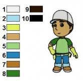 Handy Manny 01 embroidery design