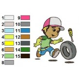Handy Manny 05 embroidery design