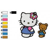 Hello Kitty 06 embroidery design