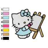 Hello Kitty 07 embroidery design