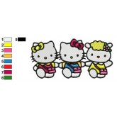 Hello Kitty 10 embroidery design