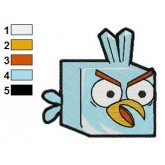 Ice Bird Angry Birds Embroidery Design