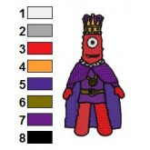 King Muno Yo Gabba Gabba Embroidery Design