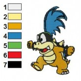 Larry Koopa Embroidery Design
