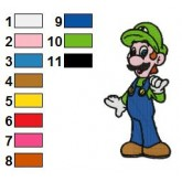 Luigi Embroidery Design 08