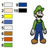 Luigi Embroidery Design 09