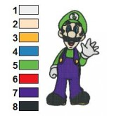 Luigi Embroidery Design 10