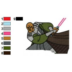 Mace Windu Star Wars Embroidery Design