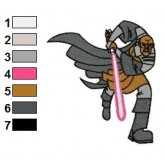 Mace WinduStar Wars Embroidery Design