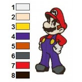 Mario Embroidery Design 02
