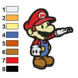 Mario Embroidery Design 03