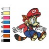 Mario as Raccoon Embroidery Design