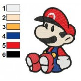 Mario setting Embroidery Design