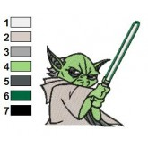 Master Yoda Star Wars Embroidery Design