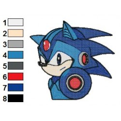 Megaman Sonic Embroidery Design