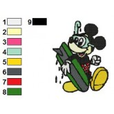 Mickey Mouse 11 embroidery design