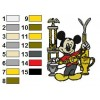 Mickey Mouse 21 embroidery design