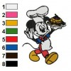 Mickey Mouse 25 embroidery design