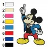 Mickey Mouse 31 embroidery design