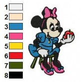 Minnie Mouse 06 embroidery design