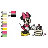 Minnie Mouse 07 embroidery design