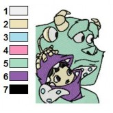 Monsters inc 04 embroidery design