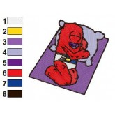 Muno Sleeping Yo Gabba Gabba Embroidery Design