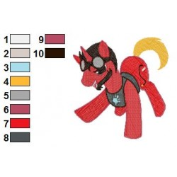 My Little Pony Stark Embroidery Design