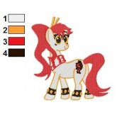 My Little Pony Yoko Embroidery Design