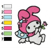 My Melody 05 embroidery design