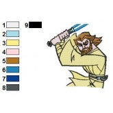 Obi Wan Kenobi Star Wars Embroidery Design