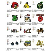 Package Angry Birds Embroidery 24