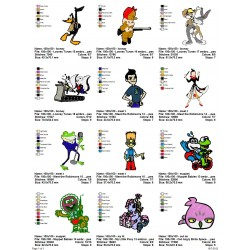 Package Cartoon Disney Embroidery Designs 230