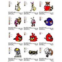 Package Cartoon Disney Embroidery Designs 232